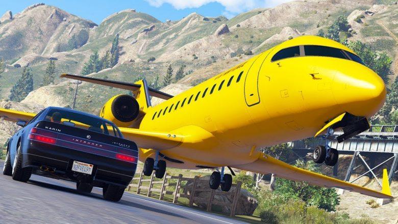 Aircraft in Distress   GTA 5 Airplane Hard Landings