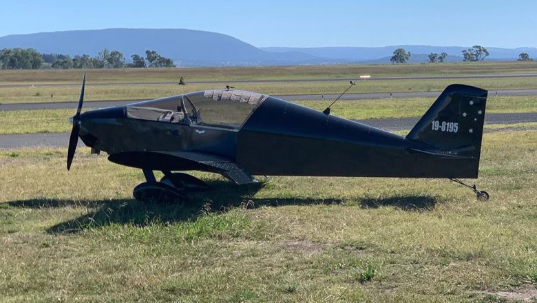 Batplane while parked at Armidale.