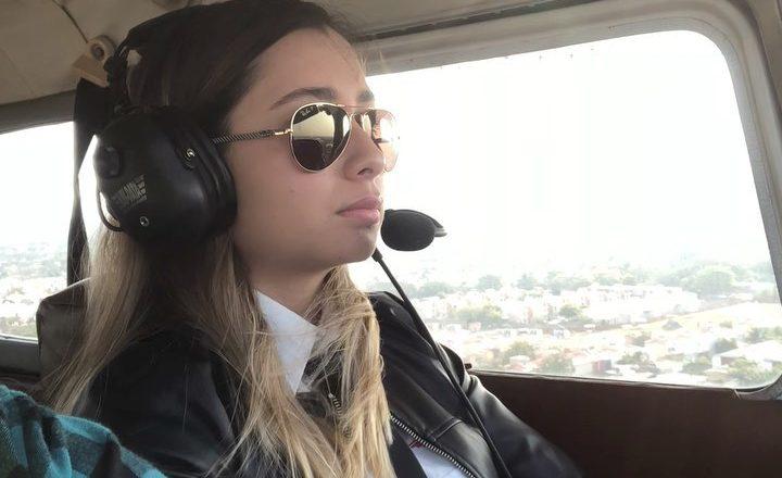 Girl landing C-172